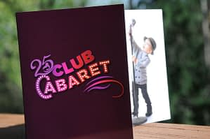 25 Club Cabaret Invitation