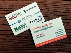 Wehnever S.A.L.E.S. Business Cards